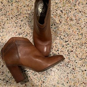 Vince Camuto booties. Barely worn. Leather. Sz 6M
